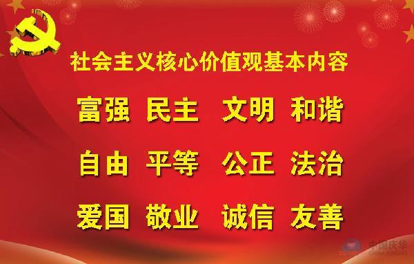 社会主义核心价值观基本内容 - 中国庆华集团